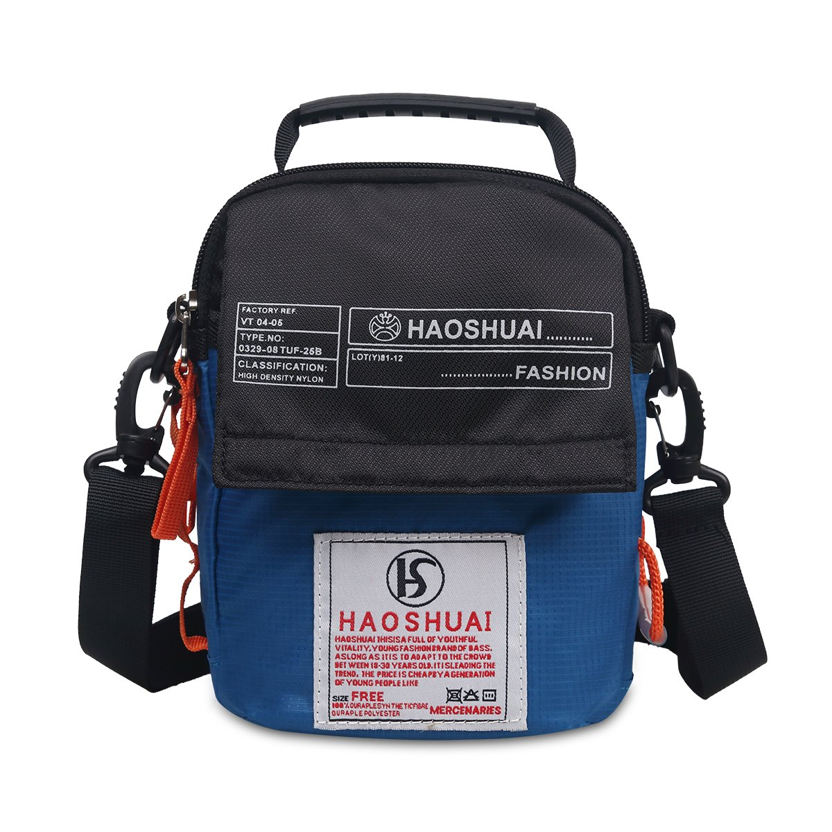 JAKAGO Waterproof Shoulder Bag Belt Universal Small Messenger Bag Handbag Mobile Phone Pouch Cross Body Bag Purse with Shoulder Strap for Outdoor Sport Travel Hiking Camping (Light Blue) by JAKAGO