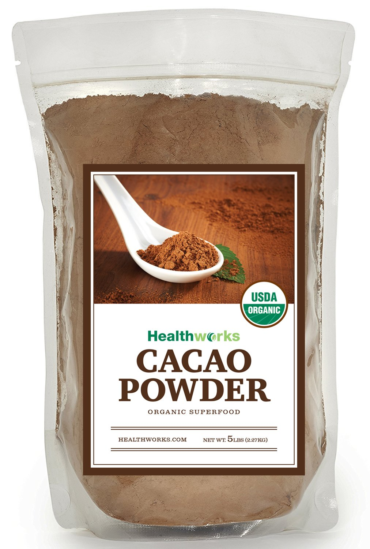 Healthworks Cacao Powder Organic, 5lb