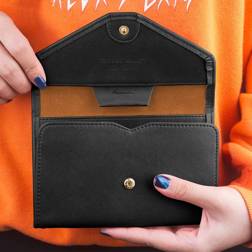 Specially Size For Handheld and Pocket Document Organizer Blue Travel Wallet Passport Holder With RFID Blocking