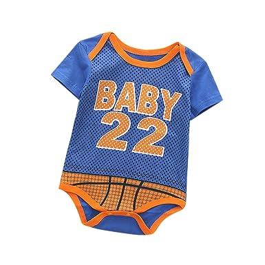 Amazon.com: ZeHui - Body de baloncesto para bebé, de algodón ...