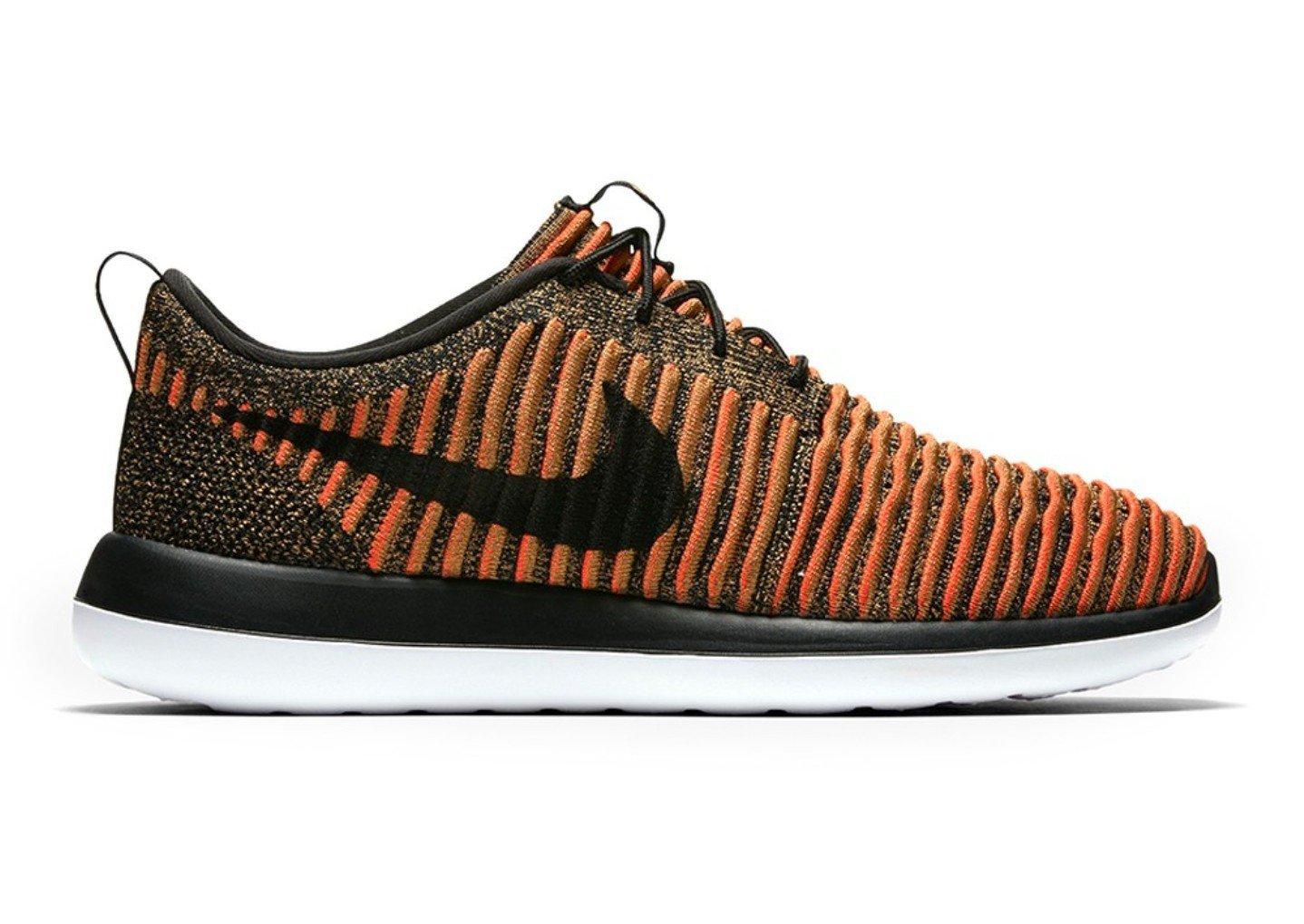 Nike Men's Roshe Two Flyknit Running Shoe 9 Orange
