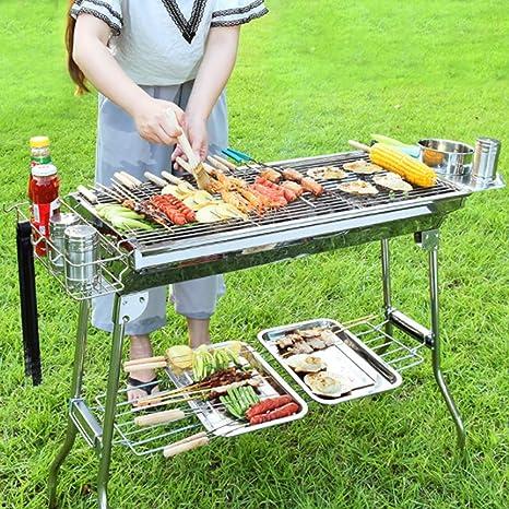 QMKJ Parrilla Plegable portátil Carbon BBQ Grill al Aire Libre ...