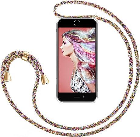 Zhinkarts Handykette Kompatibel Mit Apple Iphone 7 Plus 8 Plus 5 5 Display Smartphone Necklace Hülle Mit Band Handyhülle Case Mit Kette Zum Umhängen In Rainbow Elektronik