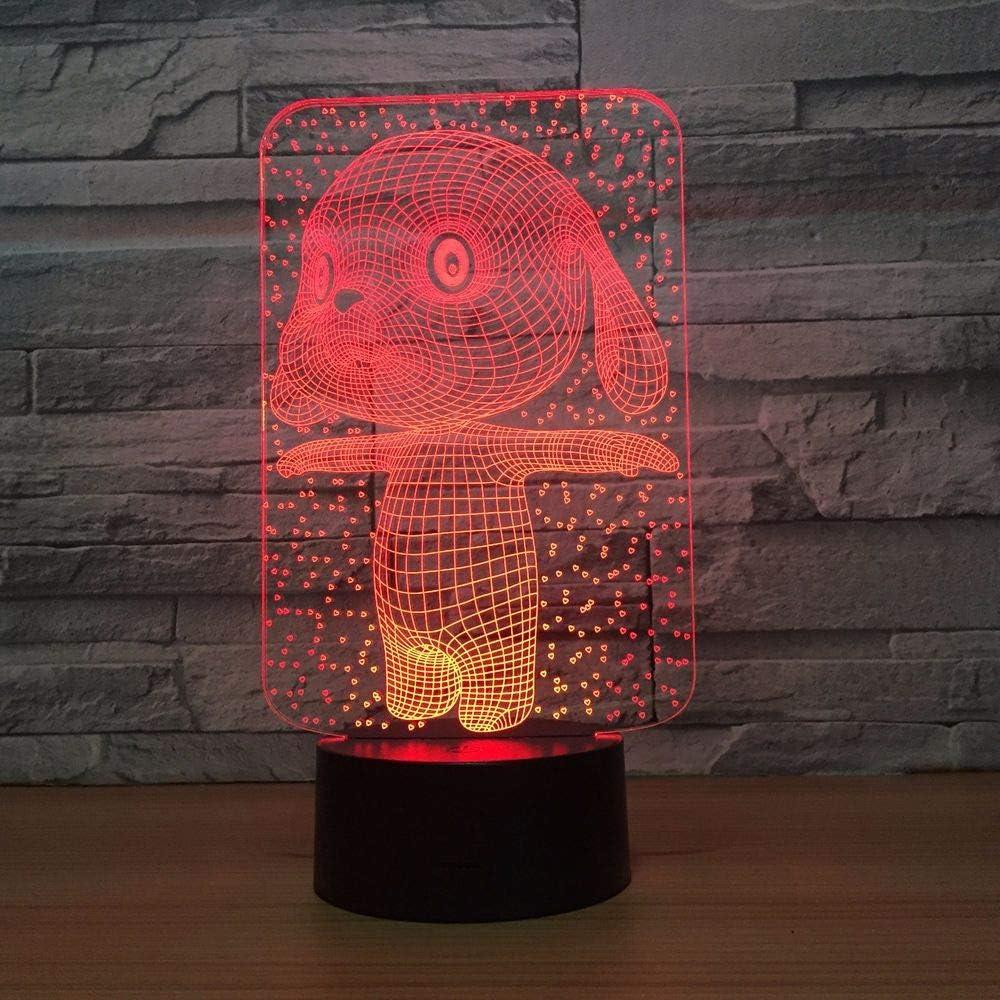 Conejo Conejito lámpara Lindo Tipo de Color luz de Noche Mesa táctil para niños bebé Dormir luz de Noche Barco de Goteo
