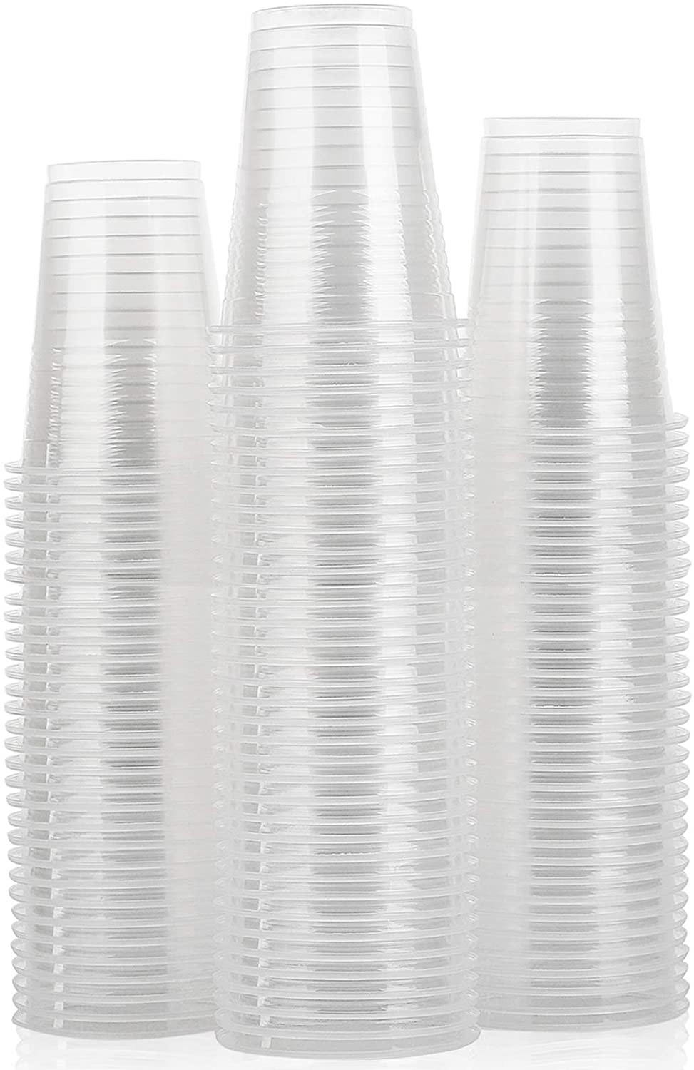 [100 Pack 8 Oz ] Plastic Cups, Plastic Cups, Clear Plastic Cups 8 Oz Clear Cups, Disposable Clear Plastic Cups Water Cups Disposable Cups, 8 Oz Water Clear Plastic Cups Clear Plastic Cups Plastic Cups