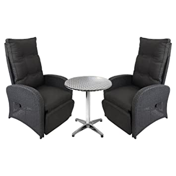 Amazon.de: 3tlg. Gartenmöbel Terrassenmöbel Lounge Set Aluminium ...