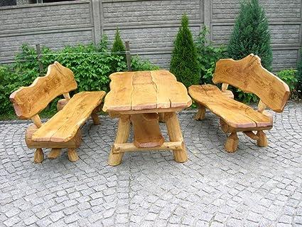Tavoli E Panche In Legno Rustici.Lusso Pur Ug Rustico Gruppo Di Rovere Per Il Giardino