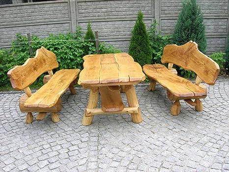 Luxus Pur Ug Rustikale Sitzgruppe Aus Eiche Für Den Garten