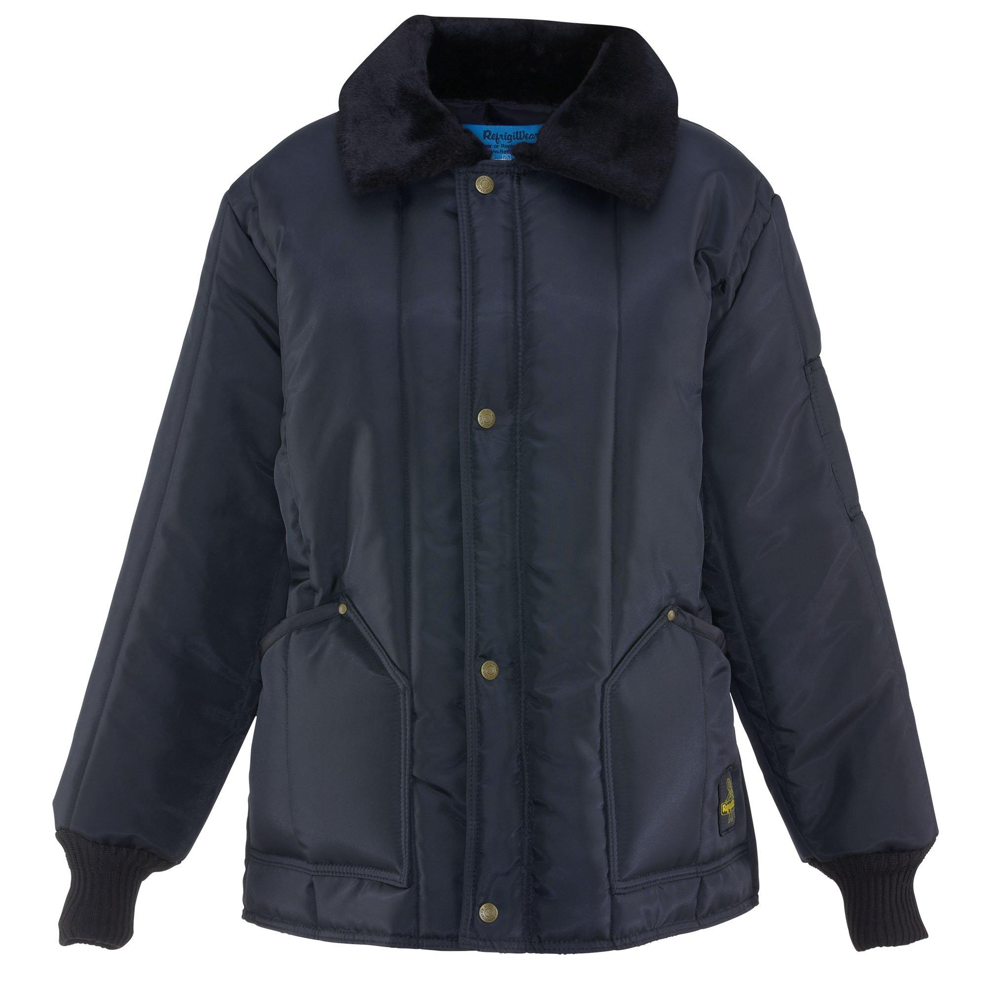 Refrigiwear Women's Water-Resistant Insulated Iron-Tuff Polar Jacket (Navy Blue, Small)
