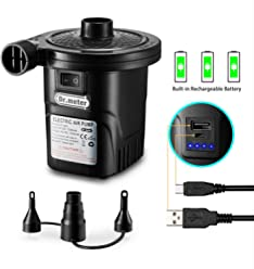 Rechargeable Air Pump, Dr.meter HT-420 Portable Electric Air Pump Quick-