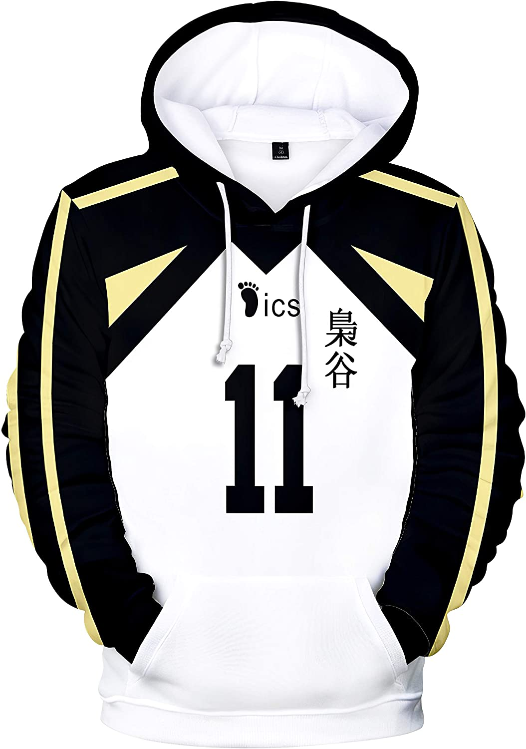 Unisex Haikyuu Hoodies High School Hoodies Shoyo Cosplay Costume 3D Printed Hooded Pullover Sweatshirt