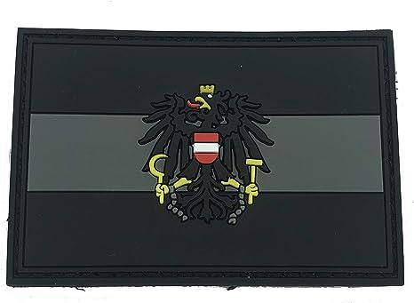 Parche de PVC para Airsoft, Paintball, diseño de Bandera austríaca de Color Negro: Amazon.es: Deportes y aire libre