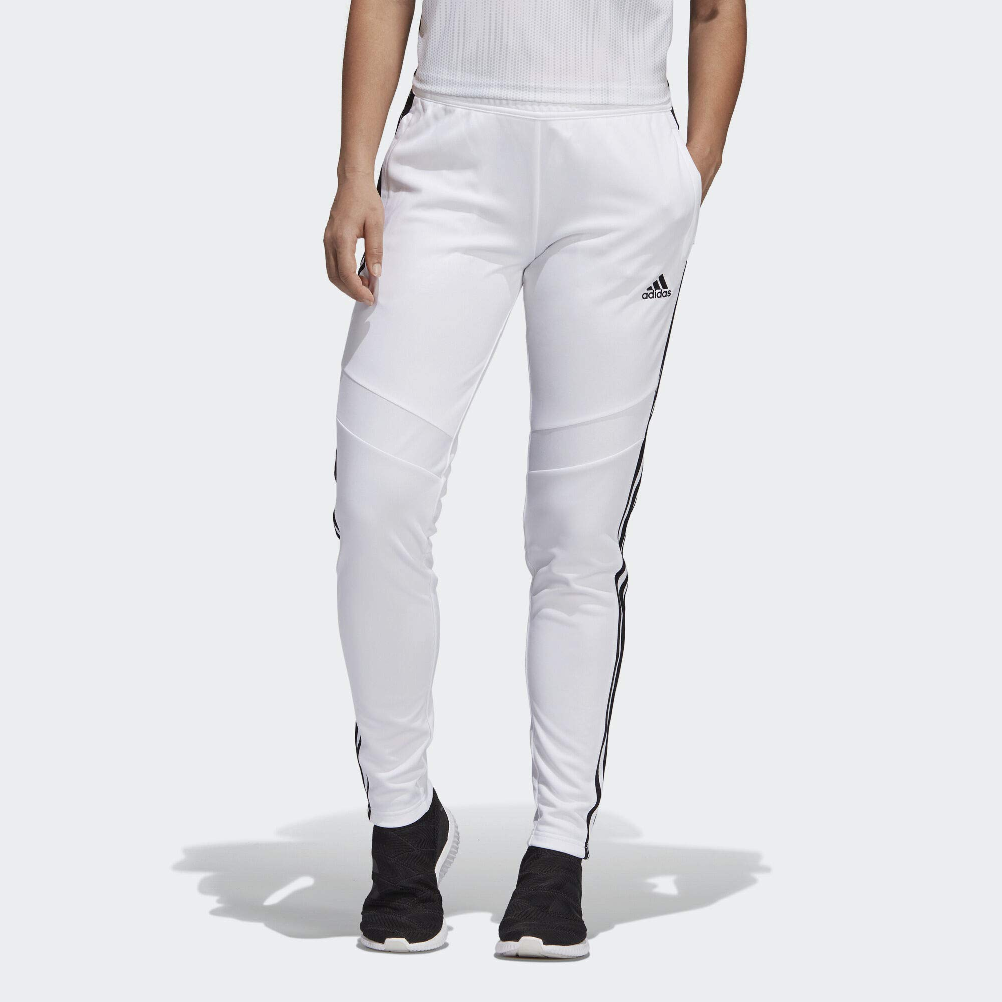 adidas Women's Tiro19 Training Pants, White/Black, XX-Large by adidas