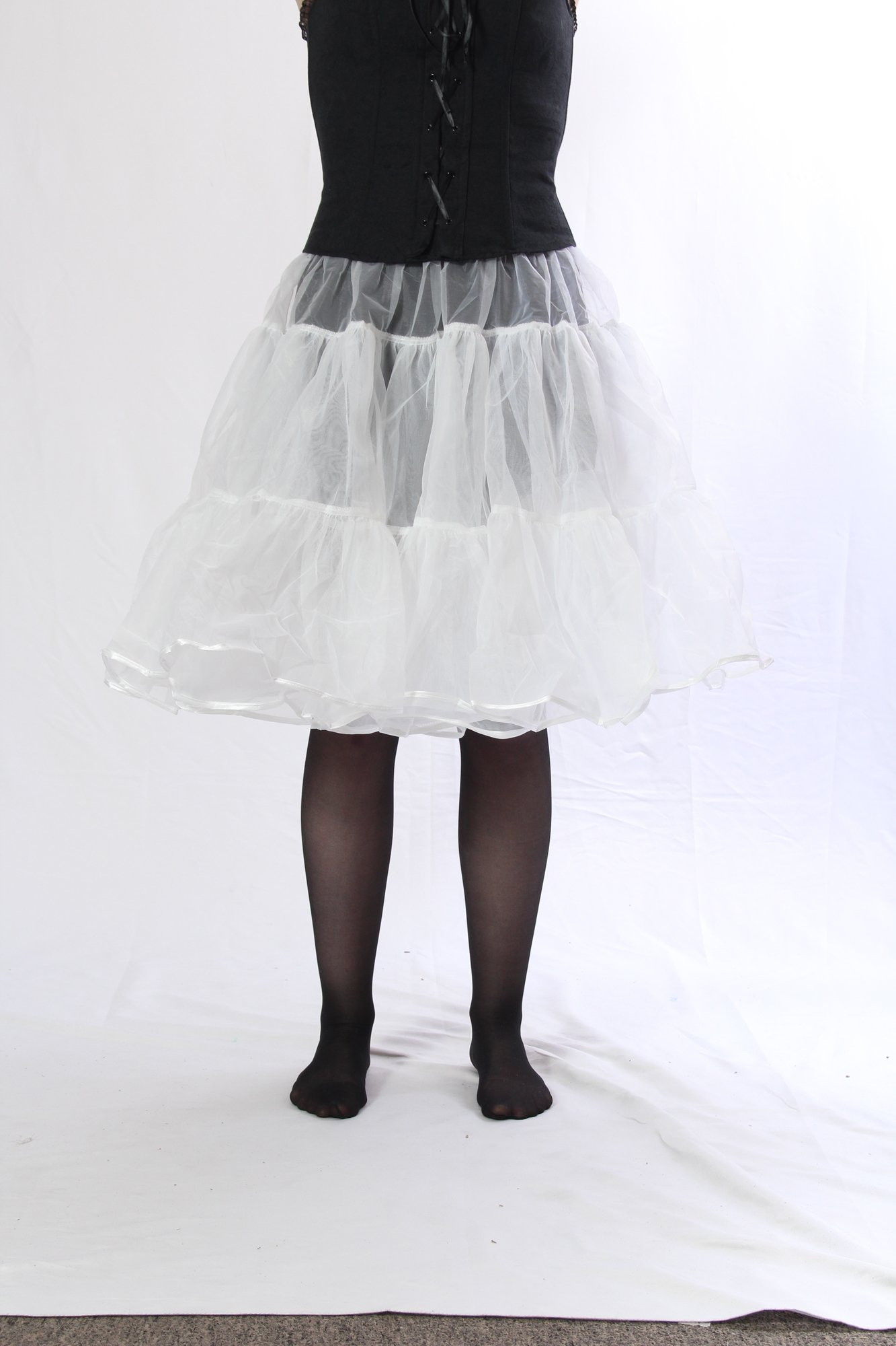 Petticoat Crinoline. Perfect Petticoat Skirt for Vintage Dresses, Petticoat Dresses, Poodle Skirts as Rockabilly Adult Tutu Skirt. Tulle Fabric; 22' Length - White Petticoat by BellaSous (Image #6)