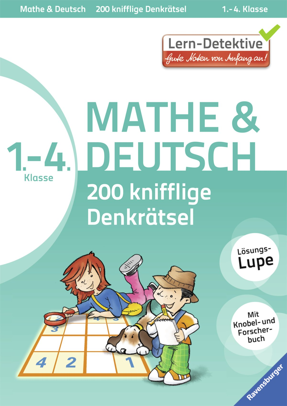 200 knifflige Denkrätsel Mathe & Deutsch 1. - 4. Klasse (Lern-Detektive)
