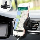 Supporto Auto Smartphone, iAmotus Supporto porta cellulare da auto 360 Gradi di Rotazione Clip Design per telefoni iPhone X 8 7 Plus 6s 6s Plus 6 iPhone SE, Samsung Galaxy S8 S7 S6 note, Huawei e GPS