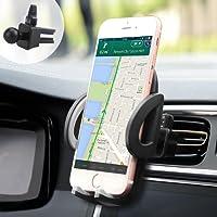 iAmotus Support Téléphone Voiture Ventilation Rotation 360° Ajustable Universel Auto à Grille d'aération pour iPhoneX 8 7 6S 6 Plus 5S Samsung Galaxy S8 S7 Edge LG Huawei Smartphones et GPS Appareils
