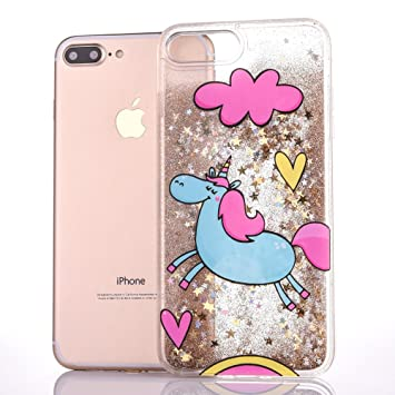 coque iphone 8 licorne paillette