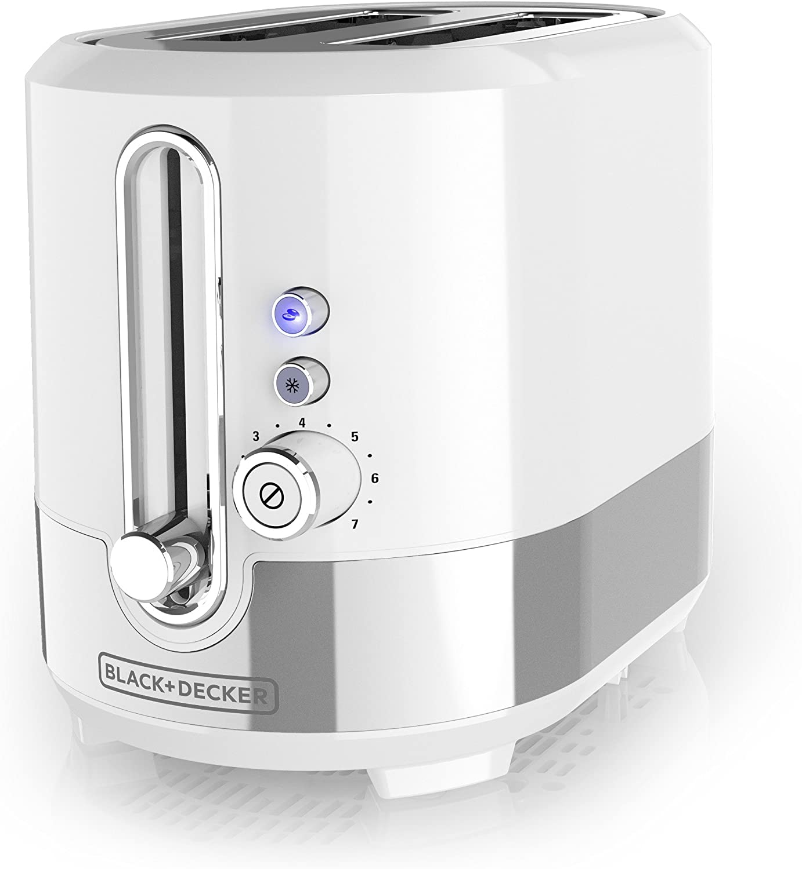 BLACK+DECKER TR2200WSD Applica/spectrum Brands Tr2200swd White 2 Slice Toaster, Medium, (Renewed)