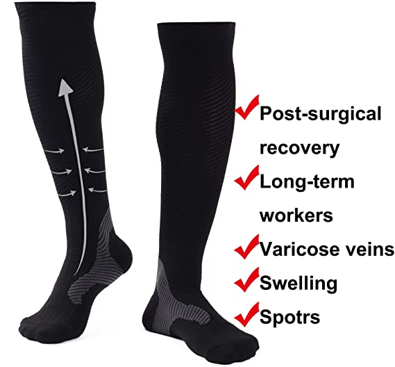 0911e53f0f5 Image Unavailable. Image not available for. Color  Compression Socks Men  Women ...