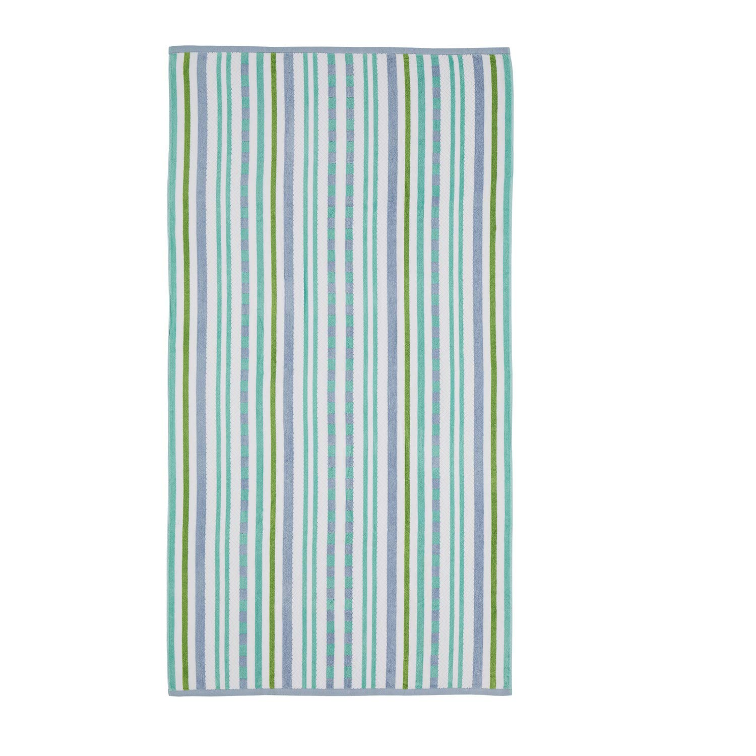 Superior 100% Cotton 550 GSM, Soft, Plush and Highly Absorbent Stitch Textured Oversized Beach Towel (Set of 2)