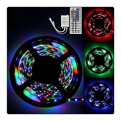 Amazon ftxj 5m led strip lights 300 leds 3528 chase effect rgb ftxj 5m led strip lights 300 leds 3528 chase effect rgb rope light kit 44 key aloadofball Gallery