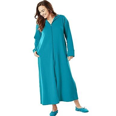 9d74ee98c0f Dreams   Co. Women s Plus Size Petite Hooded Fleece Robe at Amazon Women s  Clothing store