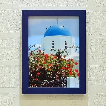 DHWJ Europeo sólido Madera portaretrato, Portaretrato Simple Pared Marco de Fotos de Pareja de los niños creativos-D 8.89x12.7cm(4x5inch): Amazon.es: Hogar