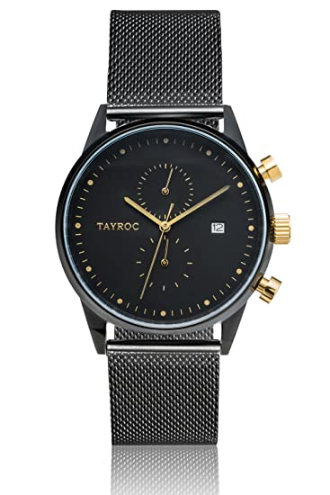 Reloj hombre RELOJ tayroc Boundless Negro Cronógrafo Acero inoxidable Cuarzo Pulsera txm087