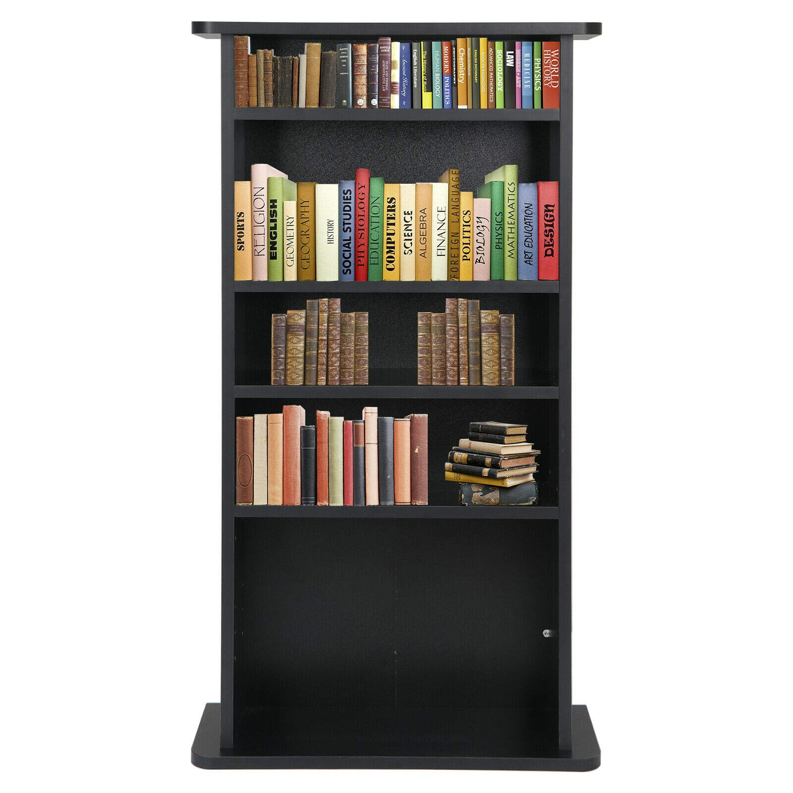 PloybeeShop Height DVD CD This Media Cabinet Storage Adjustable 5 Layers Stand Free Standing 36'' by PloybeeShop (Image #4)