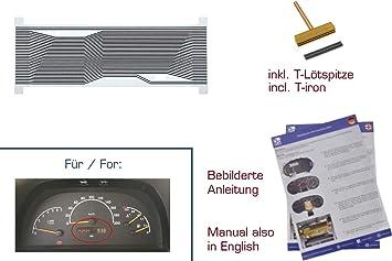 3 Reparatur gearworks Display f/ür E-Klasse W210//S210 Kombiinstrument links Var