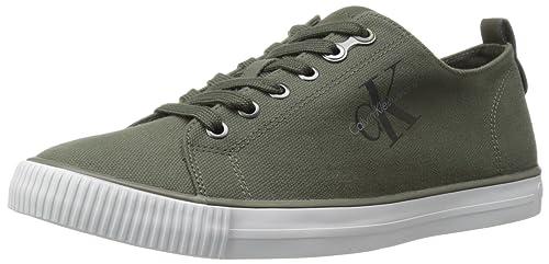 8adbadbf45 Sneakers Uomo Arnold Canvas SO369 Verde e Blu Tela Uomo Scarpa ...