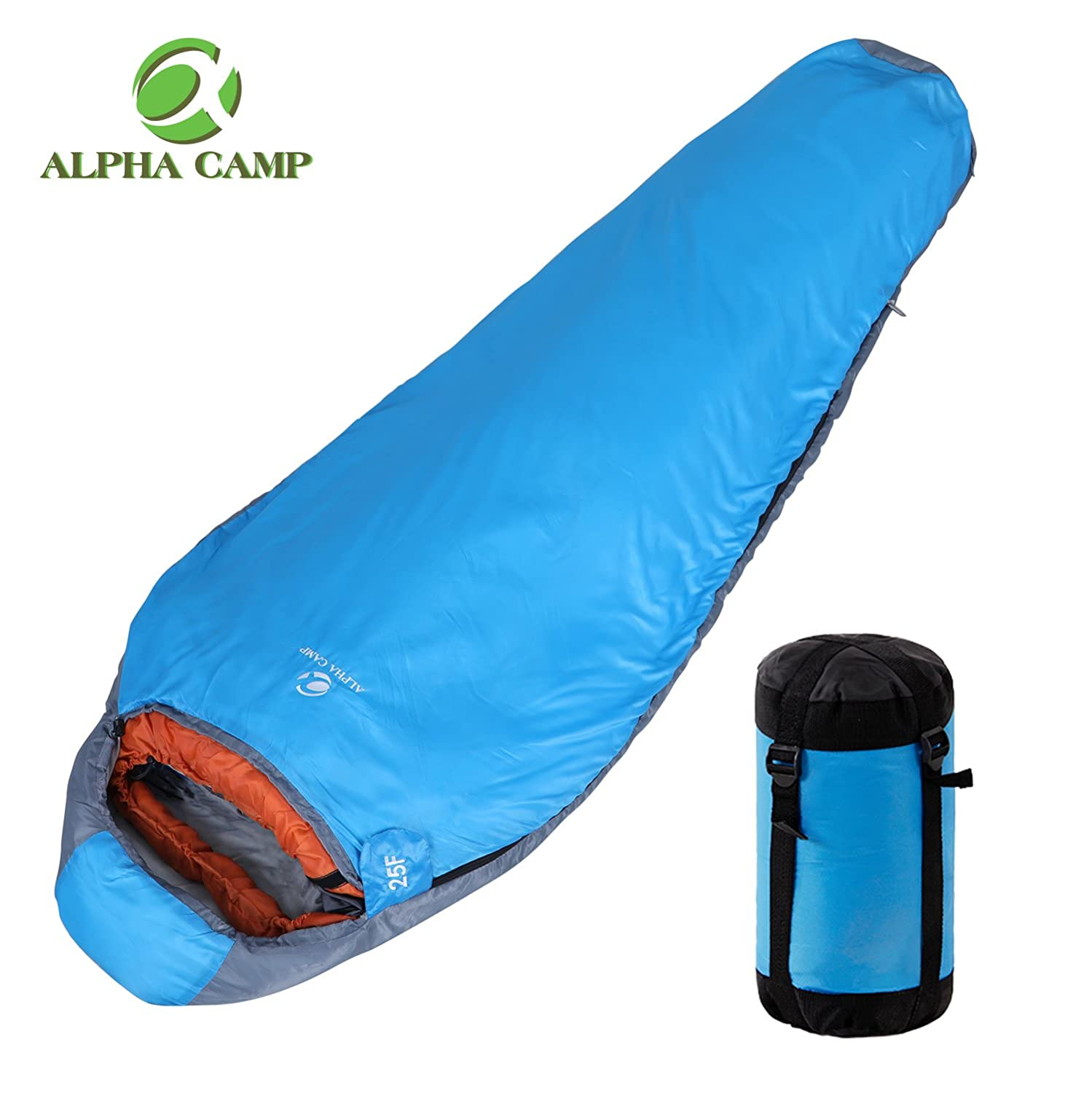 アルファCamp Sleepingバッグ超軽量Mummy Sleeping Bag 3 Season 41 ℉ -59 ℉ Camping Sleepingバッグ B077MHNT5J