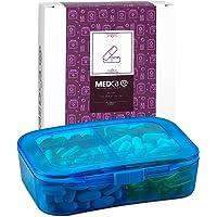 Vitamin Organisator- Reise-Pillen-Organizer-Box & 6 Fächer Tages-Medizinkoffer-Container zur Aufbewahrung Ihrer Pillen, Medikamente, Nahrungsergänzungsmittel, Vitamine und Fischöle für den täglichen Gebrauch von MEDca