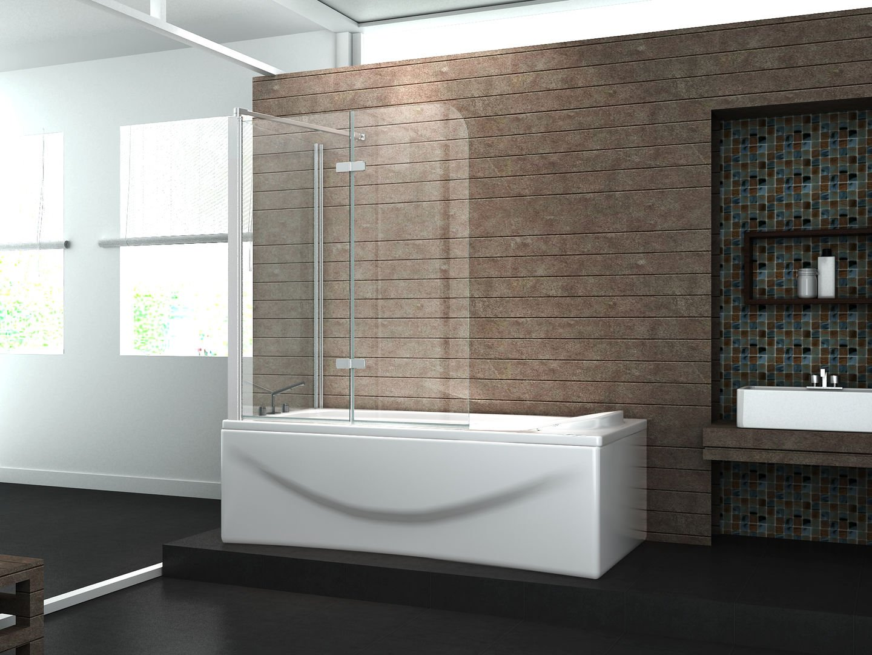 Duschabtrennung badewanne über eck  Eck-Duschtrennwand AROUND 70 (Badewanne): Amazon.de: Baumarkt
