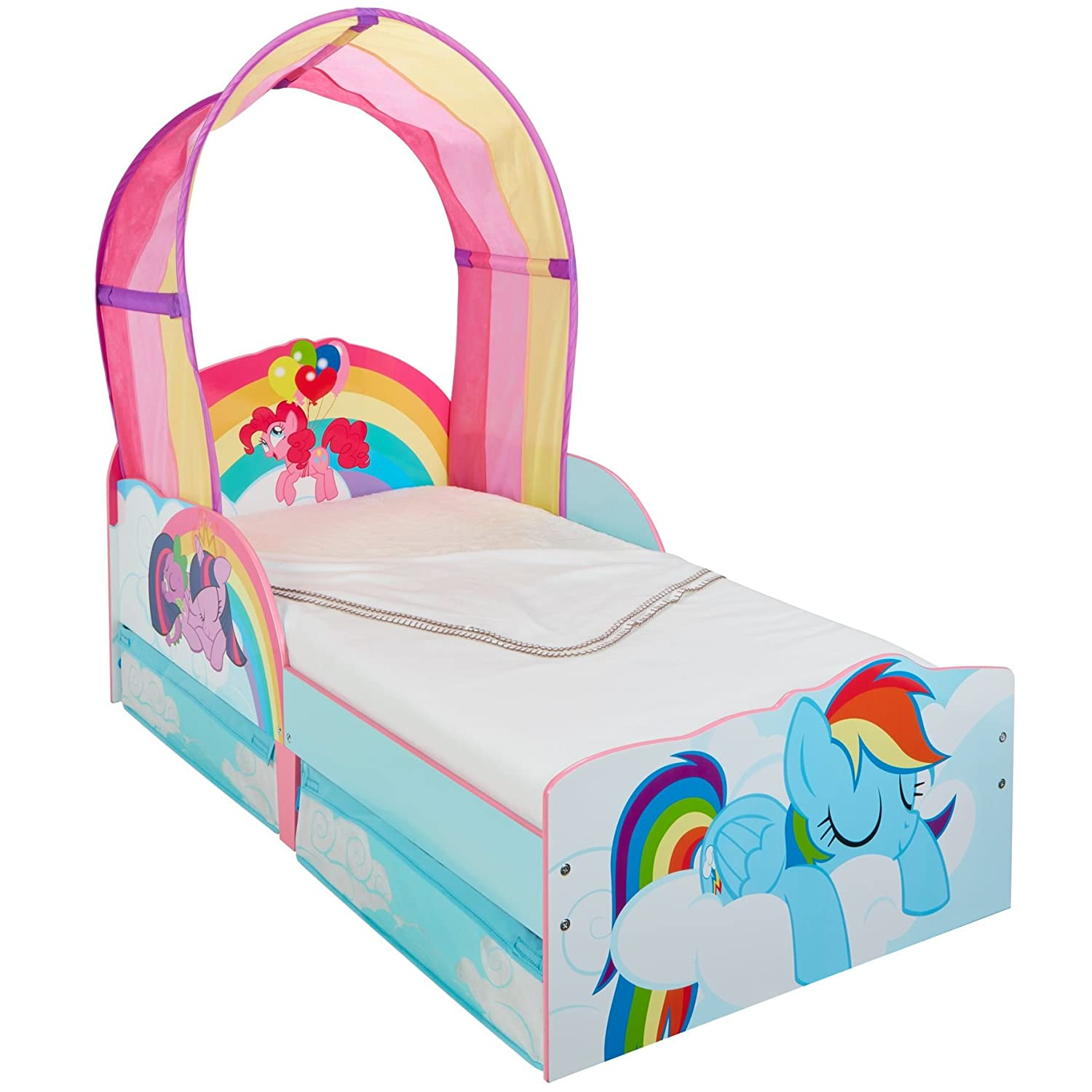 My Little Pony Kids Toddler Bed with Underbed Storage by HelloHome Worlds Apart 509MLN