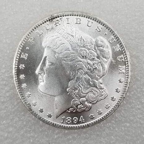 YunBest 1894 Antiguo Gran Libertad Dólares Morgan Águila Monedas de un dólar - Moneda Vieja Conmemorativa Afortunada No Circulada Descubra la Historia ...