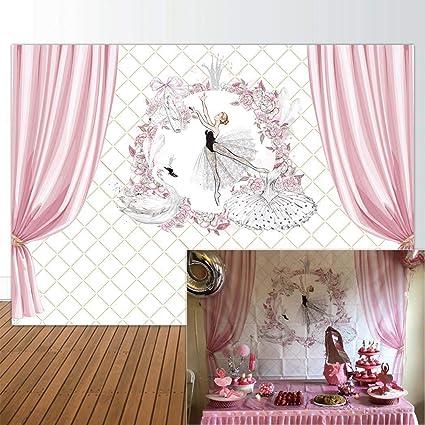 Amazon Com Allenjoy 7x5ft Ballet Backdrop Princess Ballerina Pink