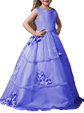 Glam Sleeveless A-Line Flower Girl Dress Lace Girls Wedding Party Dresses With Pleats and