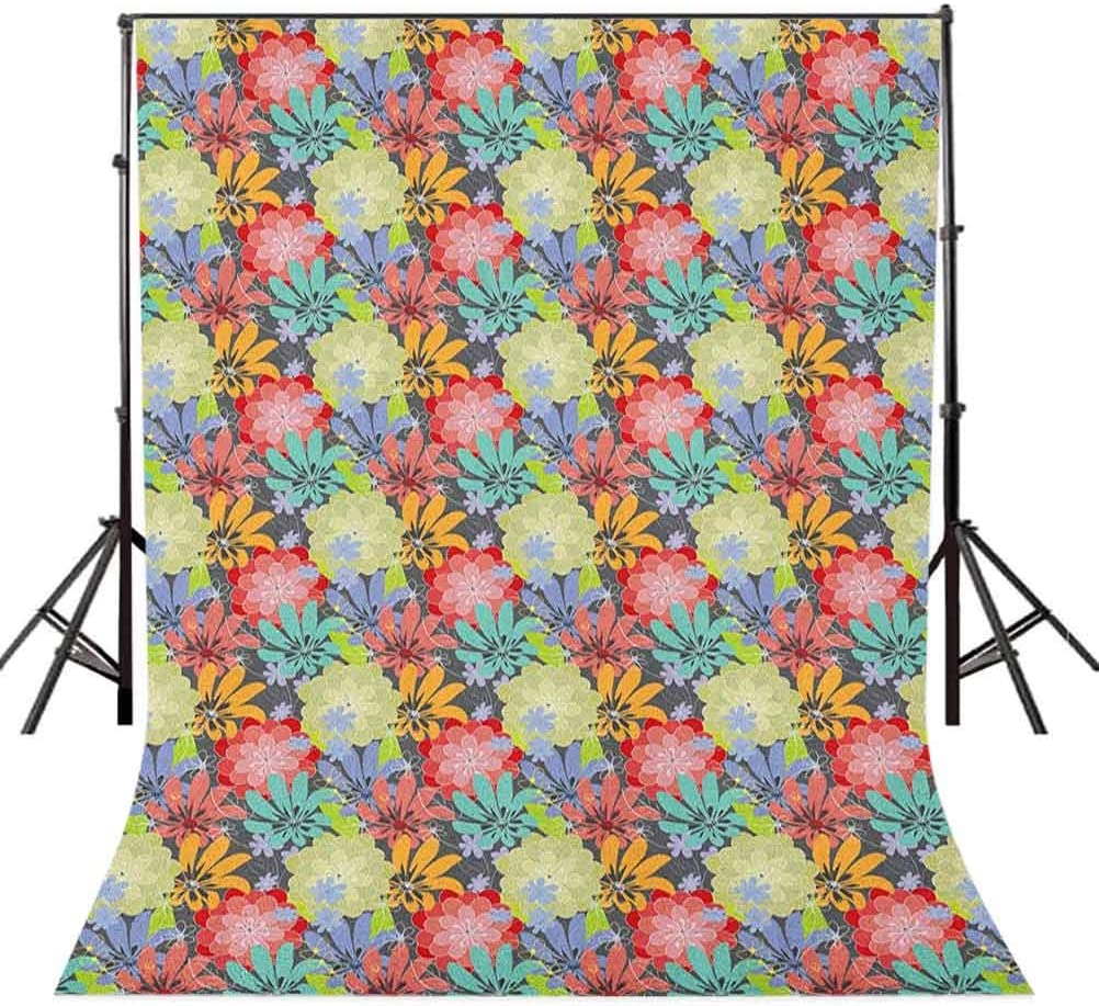 7x10 FT Daffodil Vinyl Photography Background Backdrops,Bunch of Potted Daffodils Under Calligraphy Lettering Featured Flower of Spring Background for Selfie Birthday Party Pictures Photo Booth Shoot