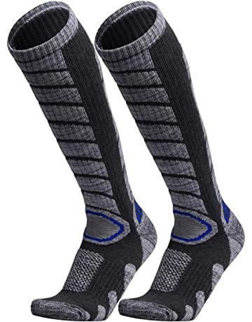 9e02d05fef6 WEIERYA Ski Socks 2 Pairs Pack for Skiing