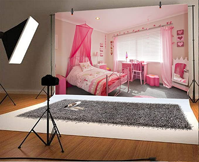 hengshu Light Pink Bedroom Drapery W72 x L45 inch Backdrop, Music Notes Pitch on Romantic Floral Background Classic Rhythm Art Inspiration Baby Pink for Girls Bedroom