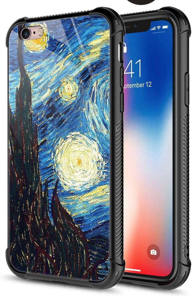 CARLOCA iPhone 6S Plus Case,The Starry Night Oil iPhone 6 Plus Cases for Girls Boys,Graphic Design Shockproof Anti-Scratch Hard Back Case for Apple iPhone 6/6S Plus
