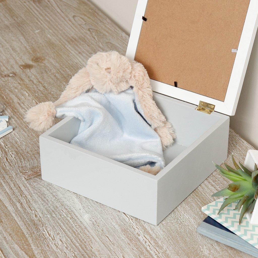ideal para fotograf/ías y otros recuerdos preciosos ideal como regalo para un nuevo beb/é bautizo o baby shower. Encantadora caja de recuerdos con forma de coraz/ón para marco de fotos