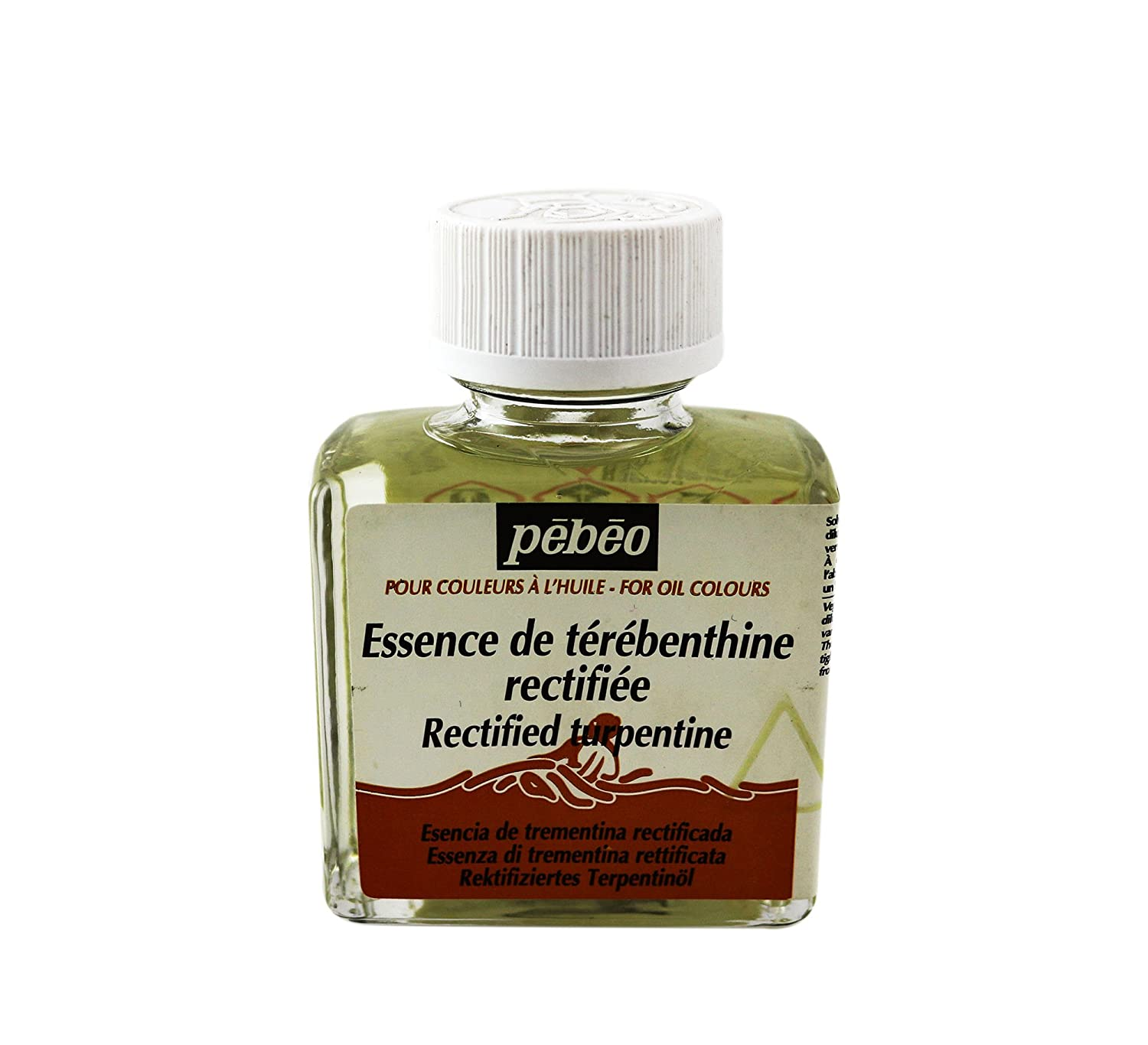 Pebeo 75 ml Rectified Turpentine, Transparent 650301