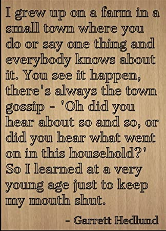 i grew up in a small town
