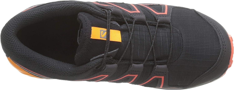 SPEEDCROSS CSWP J Salomon Enfant Chaussures de Trail running Pointure: EU 37 Black//STangelo//Cherry Tomato Couleur: Noir//Orange