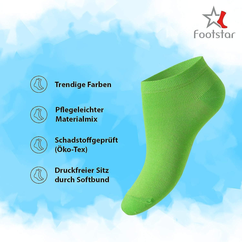 Footstar SNEAK IT Socks Wide Choice of Colours and Sizes KIDS 10 pairs of SNEAK IT Boys /& Girls Ankle Socks