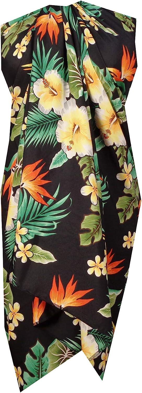 Alvish Sarong Flower Leaf Beach Swimsuit Wrap Plus Size Cover up Pareo