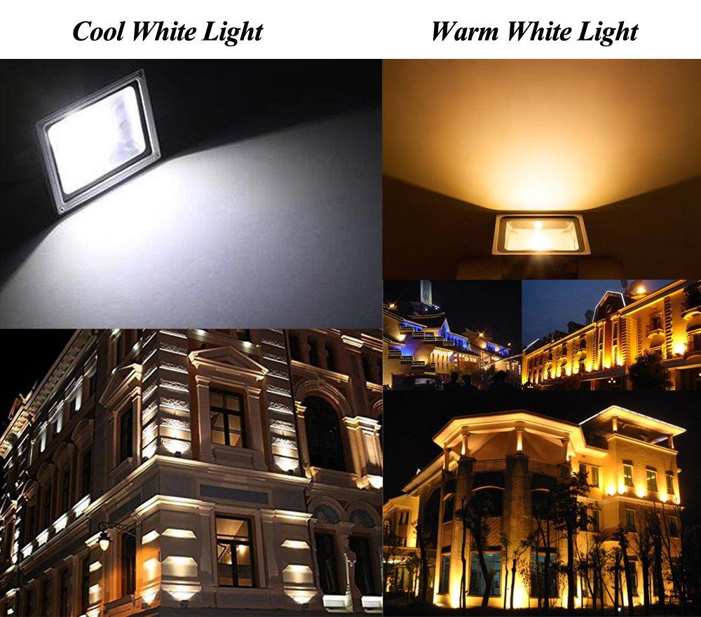 6 St/ücke Leetop 80 Watt LED Flood Light SMD Flutlicht Au/ßen Fluter Warmweiss Scheinwerfer Strahler Licht IP65 Gartenleuchte Security Light